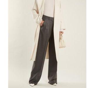 CHLOE Grey Wool Straight Leg Trousers EU38/M
